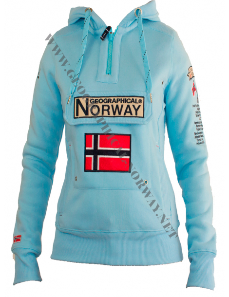 SUDADERA GYMCLASS MUJER AZUL CIELO 2018 GEOGRAPHICAL NORWAY