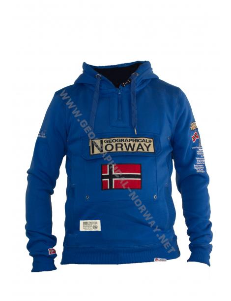 SUDADERA GYMCLASS HOMBRE  ASS D AZULON GEOGRAPHICAL NORWAY 2018