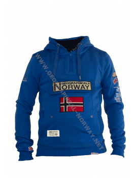 SUDADERA GYMCLASS HOMBRE  ASS D AZULON GEOGRAPHICAL NORWAY 2018