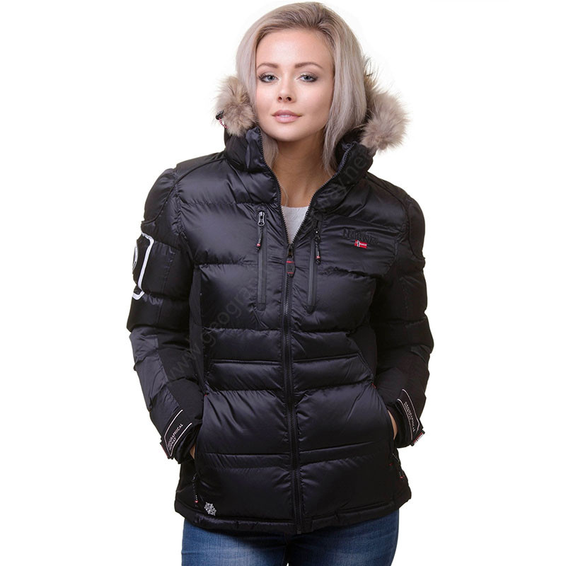 Chaqueton carmene short mujer negra geographical norway 2019