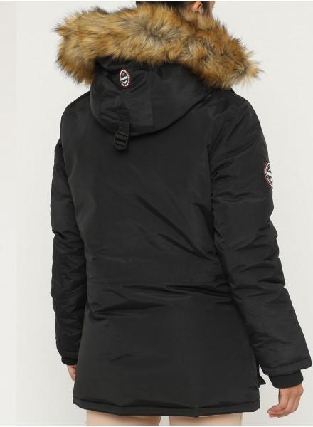 Geographical Norway Daleo Parka de Invierno con Capucha de Piel para Mujer